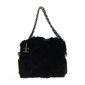 シャネル(Chanel) ラパン チェーンショルダーバッグ ブラック