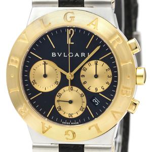 【BVLGARI】ブルガリ ディアゴノ クロノグラフ K18 ゴールド ステンレススチール レザー 自動巻き メンズ 時計 CH35SG