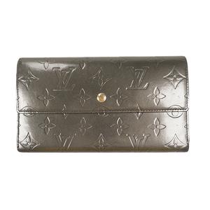 ルイ・ヴィトン(Louis Vuitton) ヴェルニ ポルトトレゾールインターナショナル Porte Tresor International M65015 メンズ,レディース,ユニセックス  長財布(三つ折り) グレー