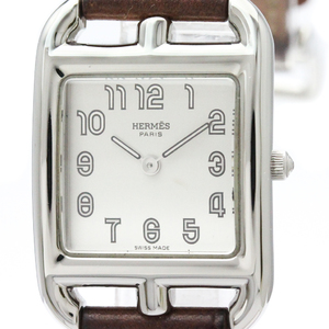 HERMES Capecod Steel Leather Quartz Ladies Watch CC1.210