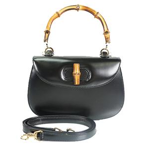 822d7852b629 Auth Gucci 2 Way Handbag Bamboo Brack 000 2046