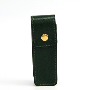 Hermes Leather Gum Holder Green Etui Chewing Gum