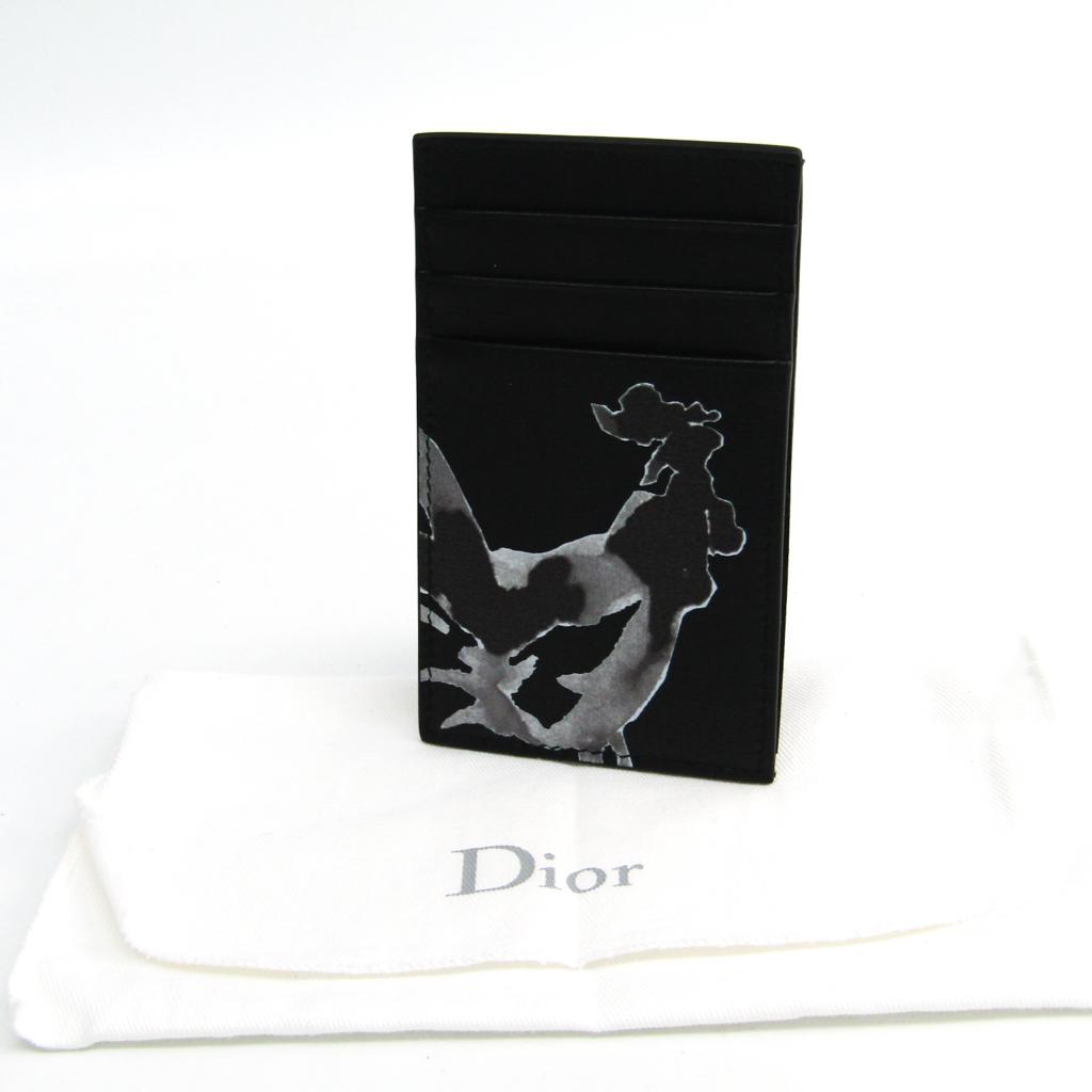 ディオール・オム(Dior Homme) レザー カードケース ブラック,グレー