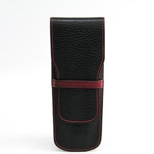 Hermes Taurillon Clemence Leather Pen Case (Black)
