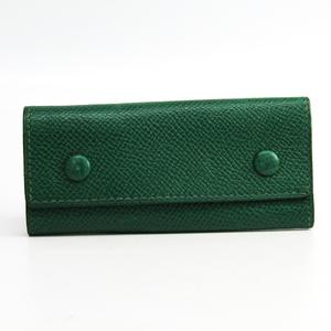 Hermes Etui Clef4 Unisex Leather Key Case Green