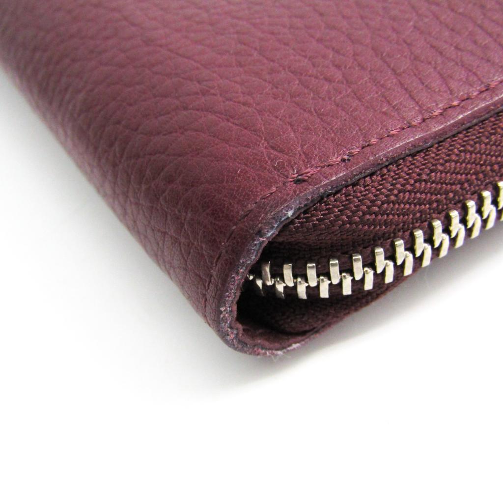 ルイ・ヴィトン (Louis Vuitton) トリヨン ジッピー・ウォレット ヴェルティカル M58410 メンズ  トリヨンレザー 長財布(二つ折り) ボルドー