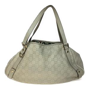 0e62d7fb3324 Auth Gucci 130736 Leather Shoulder Bag,Tote Bag Ivory