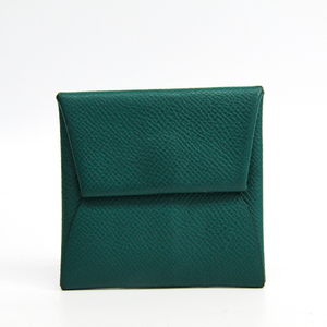 Hermes Bastia Epsom Leather Coin Purse/coin Case Green