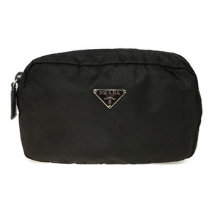 Auth Prada MV21 Nylon Pouch EBANO Dark Brown