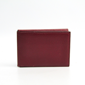Hermes Trifold Leather Card Case Bordeaux