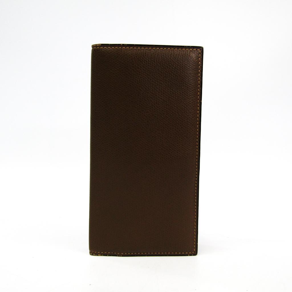 ヴァレクストラ(Valextra) ヴァーティカル 12カード V8L21 メンズ レザー 長札入れ(二つ折り) ブラウン