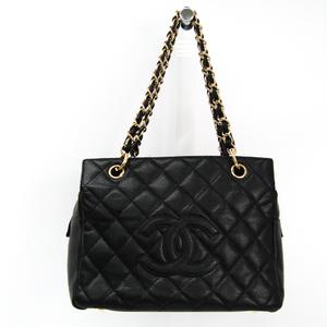 シャネル(Chanel) プチ・タイムレス・トート PTT A18004 レディース キャビアスキン ハンドバッグ ブラック