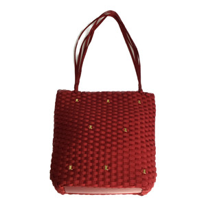 Auth Salvatore Ferragamo 216212 Shoulder Bag,Tote Bag Red