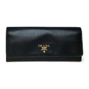 プラダ(Prada) Saffiano 1M1132 バイカラー  長財布(二つ折り) ブラック,マルチカラー (ピンク)