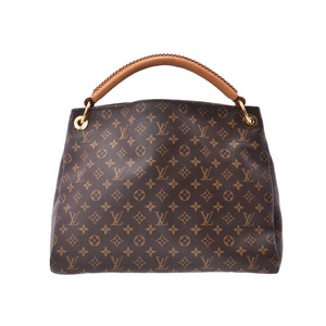 Louis Vuitton Monogram Arti MM Brown M40249 Ladies Genuine Leather One-shoulder Bag B Rank LOUIS VUITTON with Charm