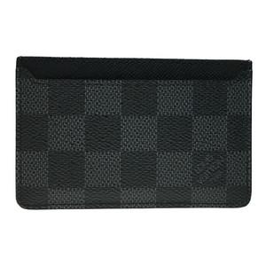 Auth Louis Vuitton N62666 Neo PortoCult Card Case Damier Graphite