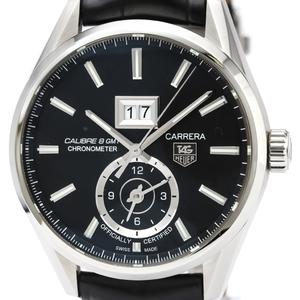 【TAG HEUER】タグホイヤー カレラ キャリバー8 GMT  ステンレススチール レザー 自動巻き メンズ 時計 WAR5010