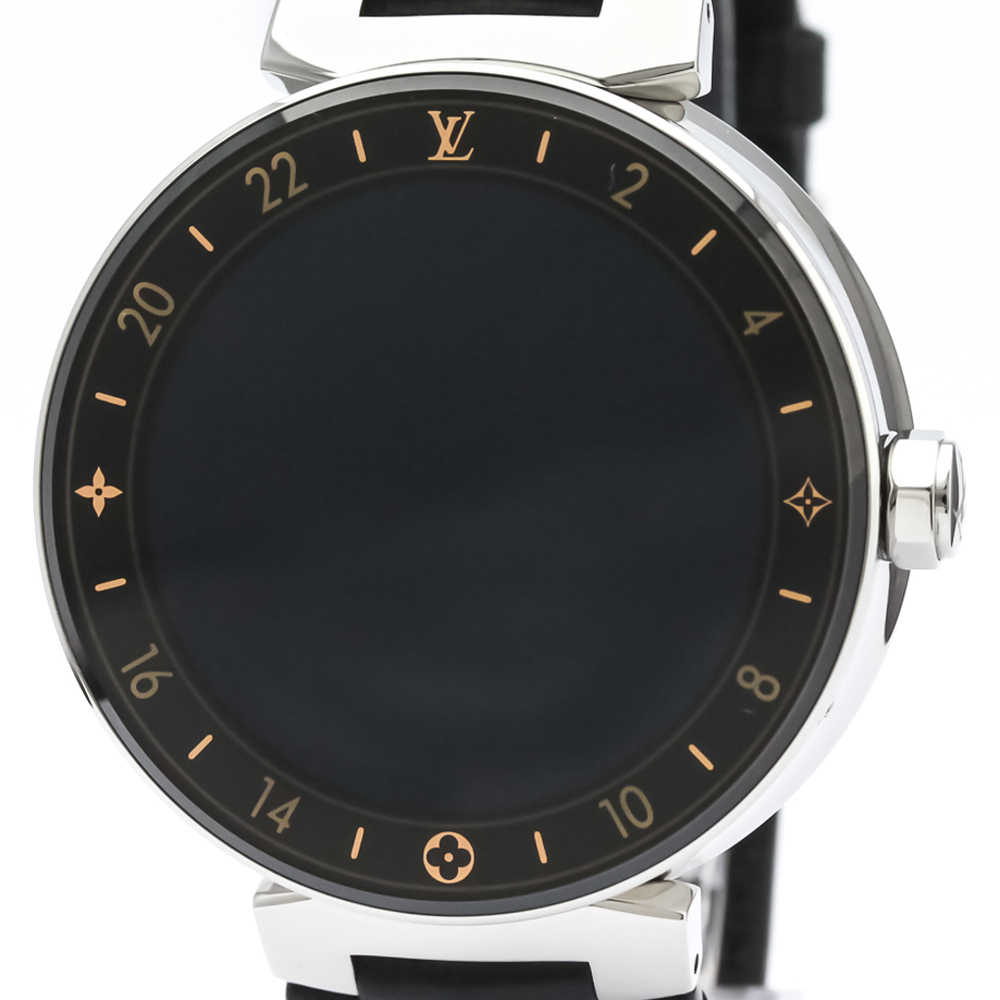 Louis Vuitton Tambour Quartz Stainless Steel Men's Sports Watch QA003Z