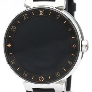 Louis Vuitton Tambour Quartz Stainless Steel Men's Sports Watch QA003Z