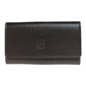 Loewe 150.14.002 Leather Key Case Dark Brown PIEL VACUNA COWHIDE