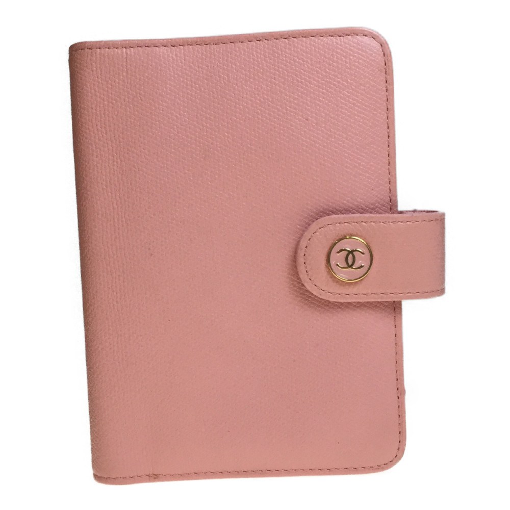 Chanel A23850 Planner Cover Pink Coco Mark Leather