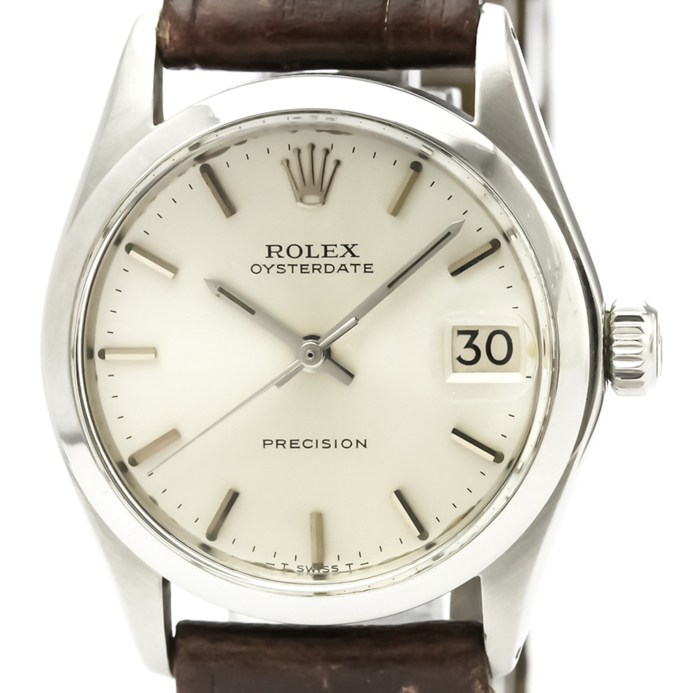 ROLEX Oyster Date Precision 6466 Steel Hand-Winding Mid Size Watch