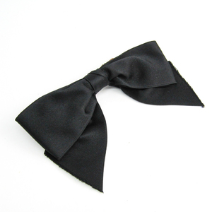 Chanel Ribbon Textile Women's Barrette Black