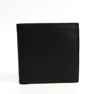 Hermes Men's Courchevel Leather Wallet (bi-fold) Black