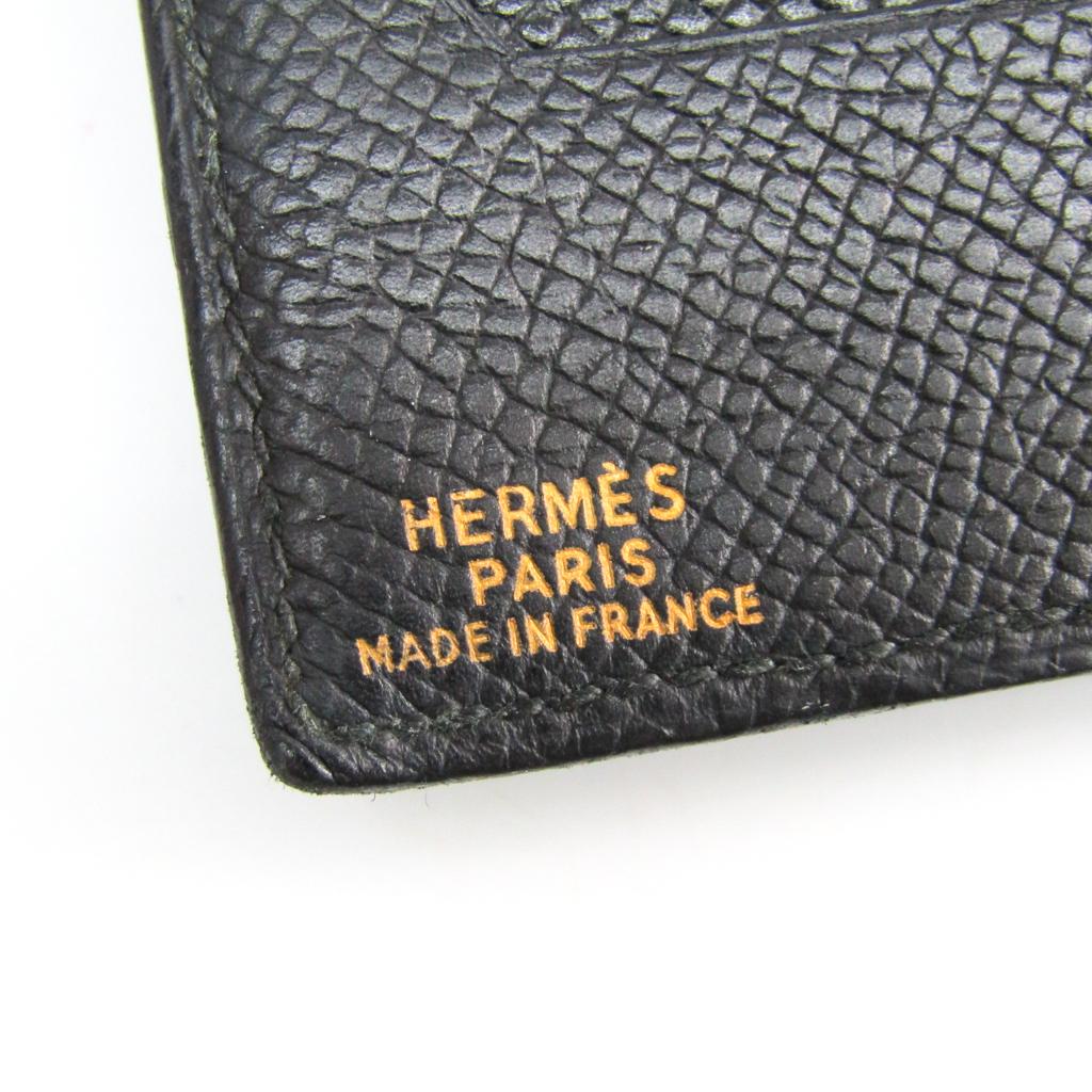 エルメス (Hermes) メンズ クシュベル 財布(二つ折り) ブラック