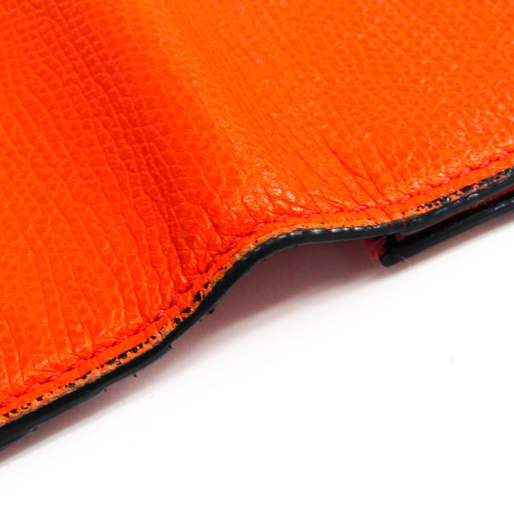 ヴァレクストラ(Valextra) V8L70 ユニセックス レザー 長財布(二つ折り) オレンジ