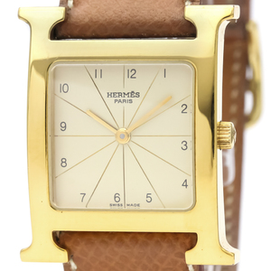 Hermes Heure H Quartz Gold Plated Men's Dress Watch RS1.501