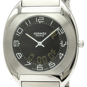 HERMES Espace Analog Digital Steel Quartz Mens Watch ES1.710