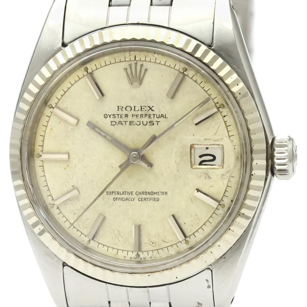 huge selection of 69492 22c91 ロレックス(Rolex) デイトジャスト 自動巻き ステンレススチール(SS),ホワイトゴールド(WG) メンズ ドレスウォッチ 1601 |  eLady.com