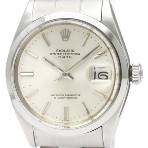 ROLEX Oyster Perpetual Date 1501 Steel Automatic Mens Watch