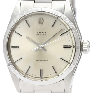 Rolex Oyster Precision Mechanical Stainless Steel Men's Dress Watch 6427