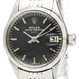 Rolex Oyster Perpetual Date Automatic Stainless Steel Women's Dress Watch 6519