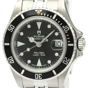 Tudor Lady Sub Automatic Stainless Steel Women's Sports Watch 96090