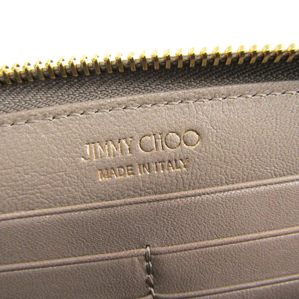 ジミー・チュウ(Jimmy Choo) FILIPA レディース レザー 長財布(二つ折り) ベージュ
