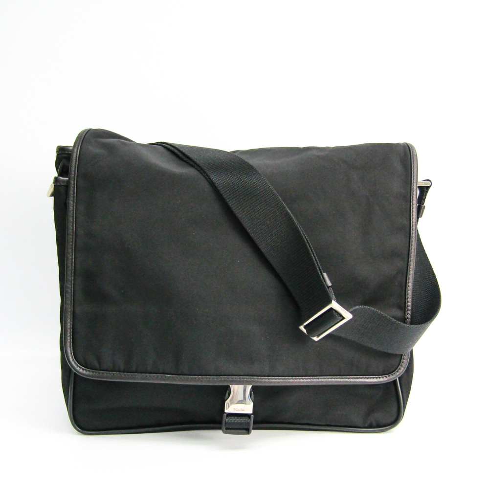 taglia 40 5d41d 2d2e7 Prada BORSA A TRACOLLA V166 Unisex Nylon,Leather Shoulder Bag Black |  elady.com