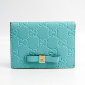 グッチ(Gucci) グッチッシマ 388684 レザー カードケース ブルー