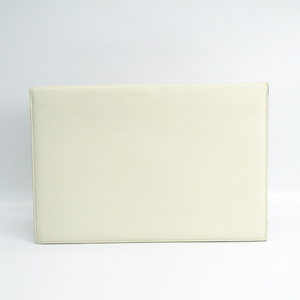 Valextra Men's Leather Document Case White