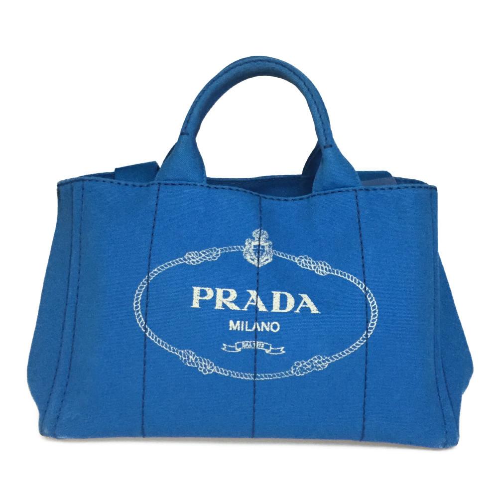 プラダ(Prada) カナパ 2WAY ハンドバッグ,ショルダーバッグ ブルー