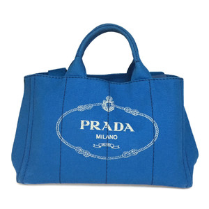Auth Prada Canapa 2WAY Handbag,Shoulder Bag Blue