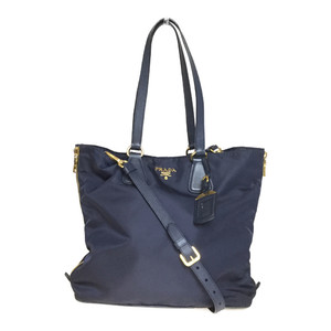 Auth Prada 2WAY Handbag,Shoulder Bag Navy