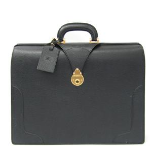 Burberry Dulles Bag Men's Leather Briefcase Black
