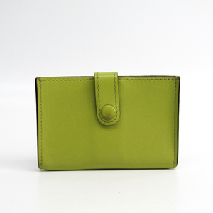 Hermes Leather Card Case Lime