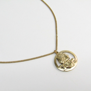Chanel Metal Women's Pendant Necklace (Gold)