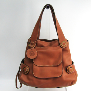 Loewe 385.27.002 Women's Leather Handbag Brown