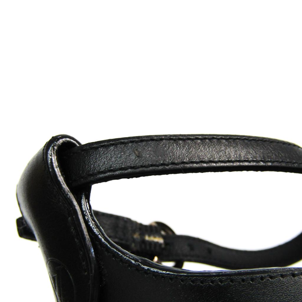 ルイ・ヴィトン (Louis Vuitton) レディース サンダル (ブラック,ホワイト)