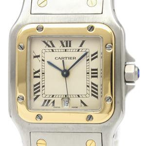 Cartier Santos Galbee Quartz Stainless Steel,Yellow Gold (18K) Men's Dress Watch 187901